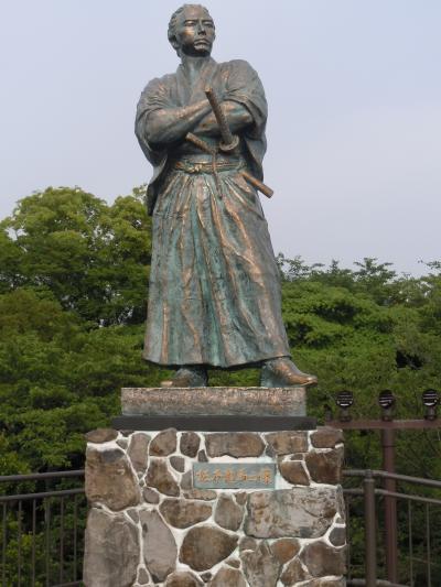 風頭公園(かざがしらこうえん)の龍馬像