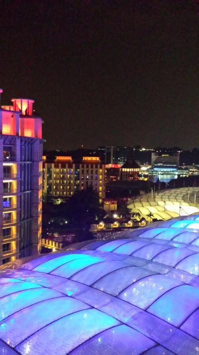 夜の窓からの景色。