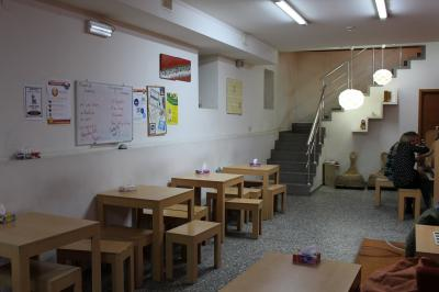 地下の食堂
