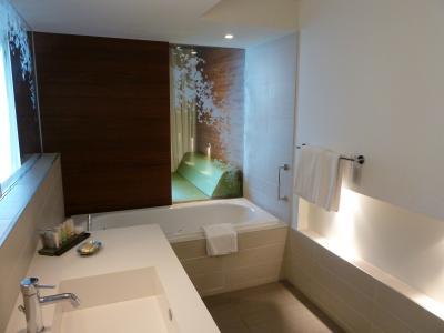 バスタブの他にシャワールームもあり