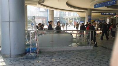 ソウル駅の金浦空港行きホームへの道のり