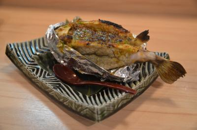 1匹まるごとのハコフグ味噌焼きを食べることが出来ます