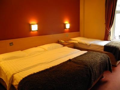 ダブルベッドとシングルベッドでツインでした。