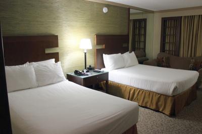 日本人街にある綺麗なホテル