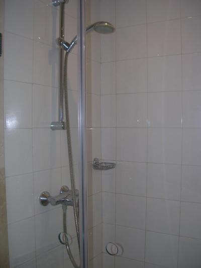 きちんとお湯の出るシャワー