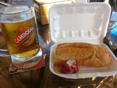 朝食付きかつ(フランスパン)※ビールは別