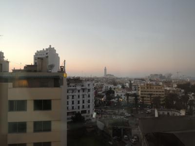 遠くにモスクが見えます