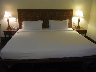 ベッドがとても広いです。