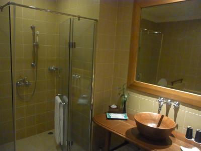 シャワー室と洗面台