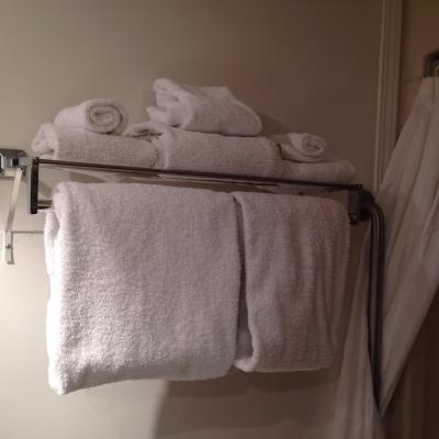 バスルームのタオルはたっぷりあります。