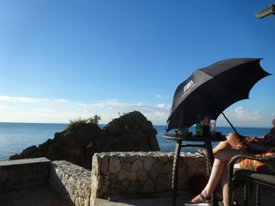 サンセットまでは日傘で