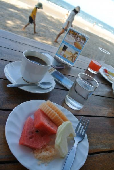 and coffee and fruits