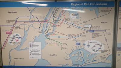 JFKから地下鉄とバスでLGAへ