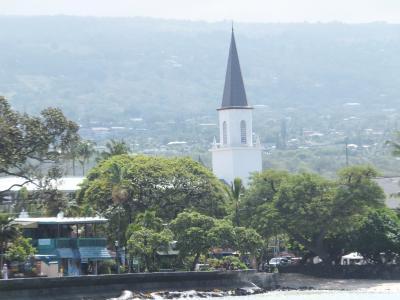 素朴なハワイ島の人気の教会