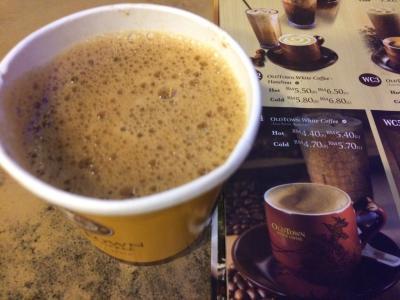 ペナン名物ホワイトコーヒー