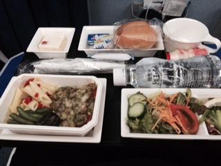 素敵な機内食シンガポール便