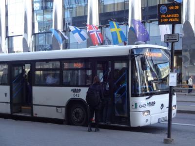 タリン旧市街からタリン空港へのバス
