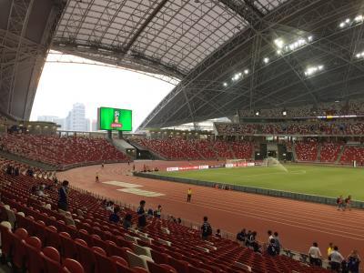 サッカーワールドカップ二次予選シンガポール戦。