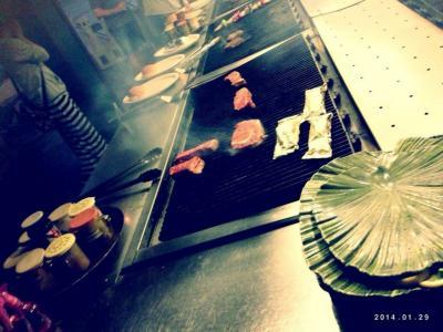 ザ・アメリカンなステーキ。日本からわさび醤油もってきて!