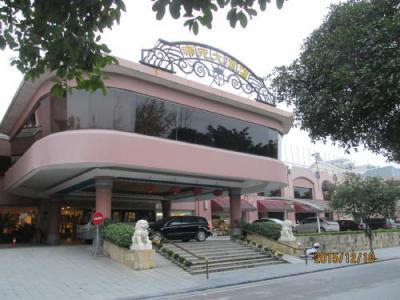 漓江の中洲にある帝苑大酒店