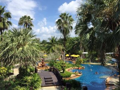 温泉のあるリゾートホテル