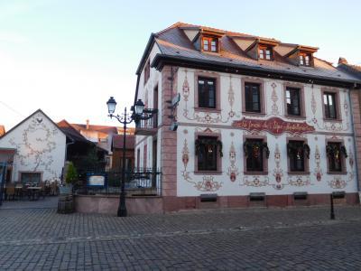 レセプションとレストランの建物