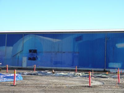 氷の保管倉庫とホテルの区割り