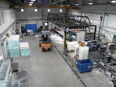 アイスグラス製造工場内部