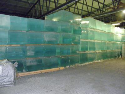 ホテルの材料となる氷