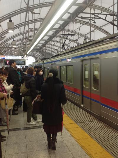 京成電鉄で成田に行く時の注意喚起。