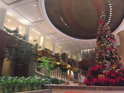 ロビーのクリスマスツリーが壮観でした