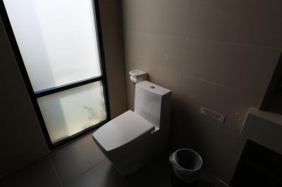 トイレはホースつきです