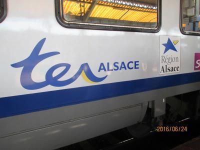 アルザスでTERに乗車しました。