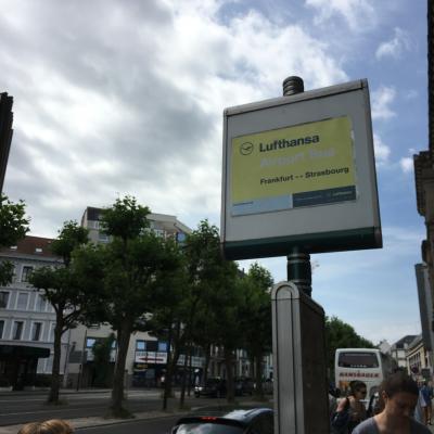 フランクフルト空港からバスで快適