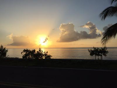 どこまでも美しい夕日