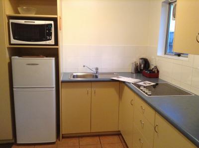 キッチンです。ティーバッグも数種類備え付けられてました。