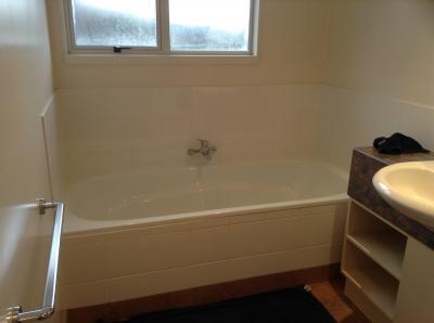 バスルームです。1日はしゃいだ後はここで疲れを癒します。