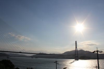 橋の途中に県境があります