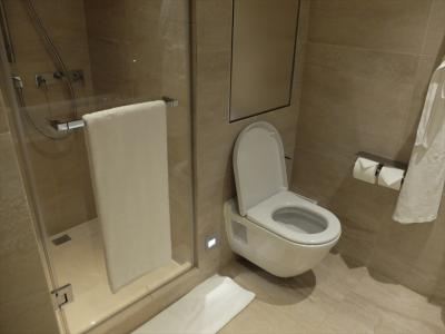 浴槽とは別のシャワーブース。お湯の温度が一定せずがっかり。