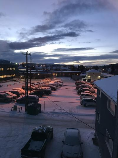 朝9時半頃の部屋からの景色