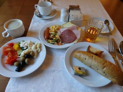 シンプルながら美味しい朝ごはん
