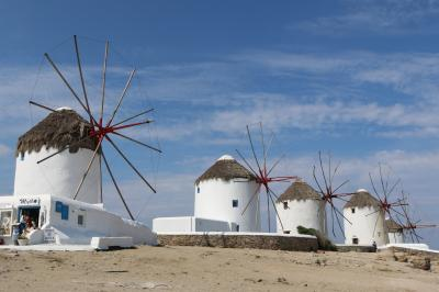 ミコノス島の風車