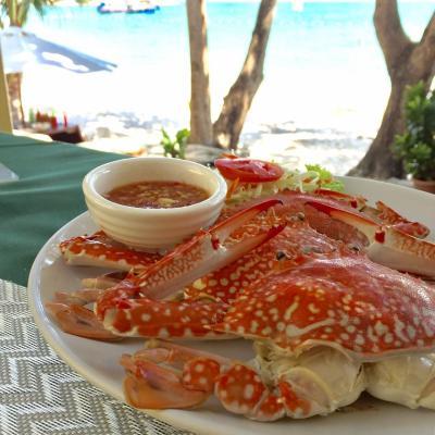 レストランでは茹でた渡り蟹も