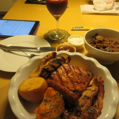 食べ切れず、翌日オーナーさんがオーブンで温め直してくれました