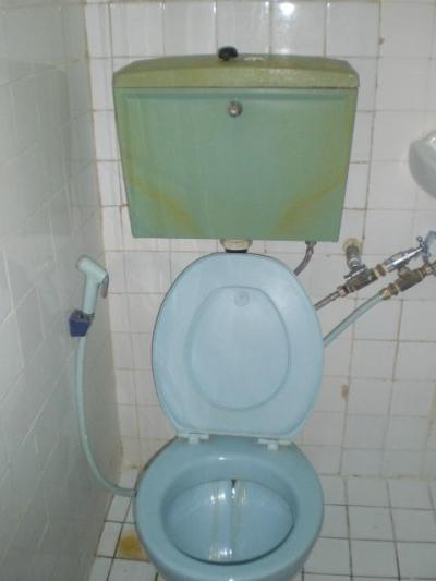 トイレの様子です。ホテルディリ時代のようで、古く感じます。