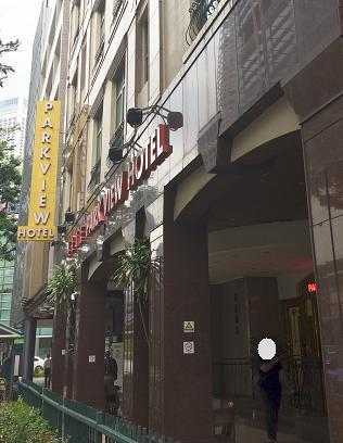 有名なラッフルズホテルすぐ近くです(同じ通り沿いです)