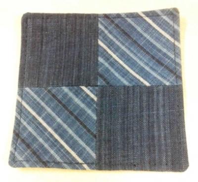 粋な縞の藍染