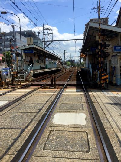 なんとも風情のある駅、琵琶湖まで歩いて5分