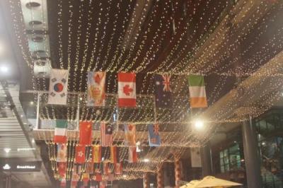 世界中の人々が集まる国際イベント中に宿泊。