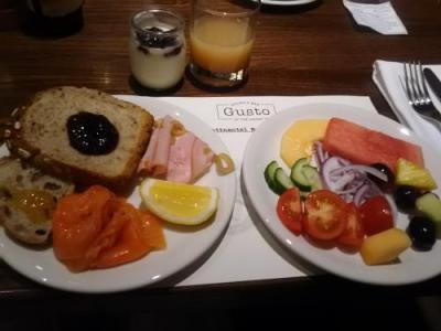 館内レストランでの、朝食メニューにも大満足!